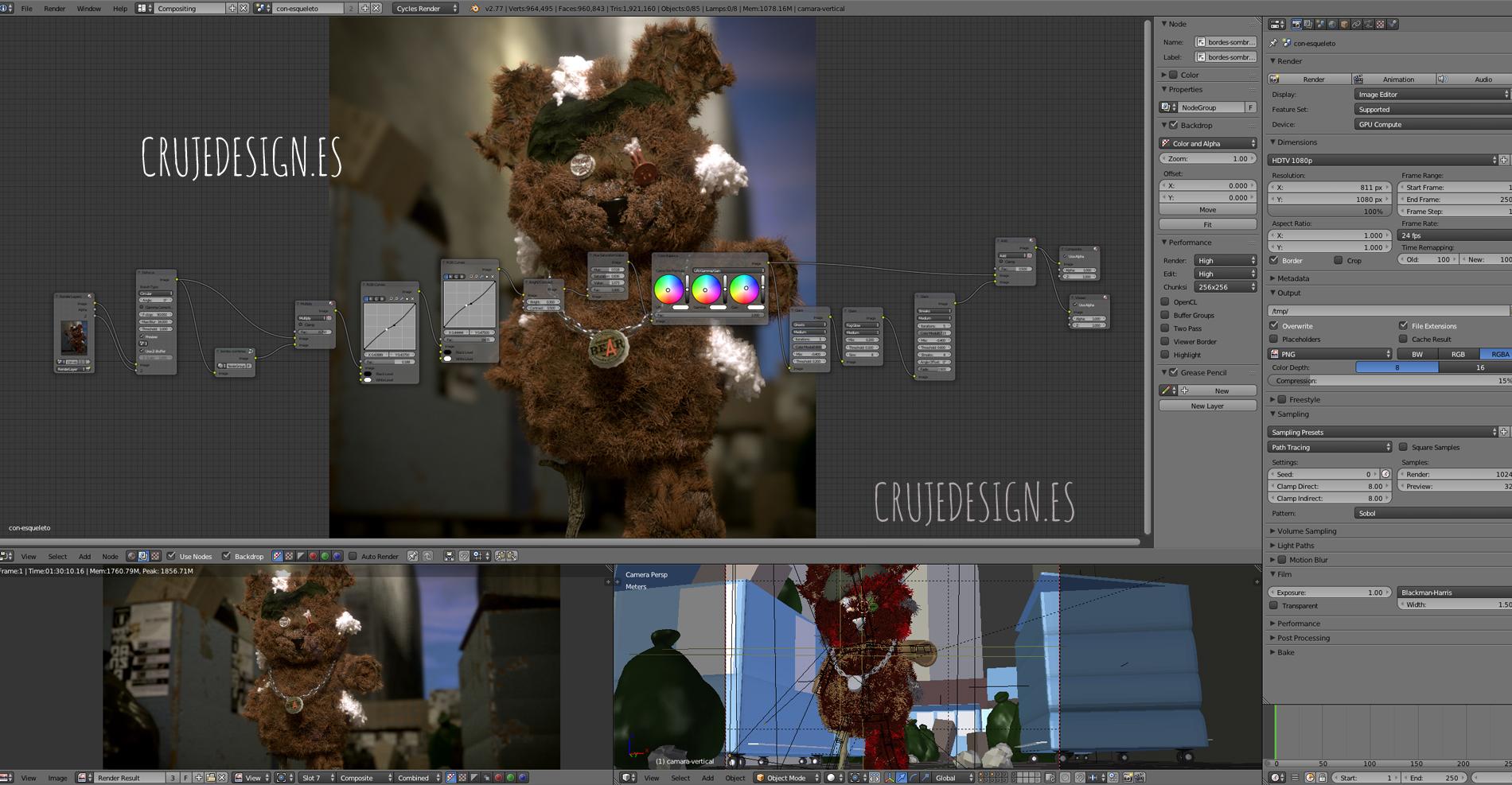 Teddy´s Revenge Crujedesign Compositing Blender